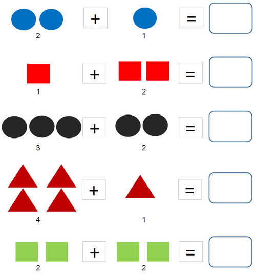 Kindergarten Worksheets Addition With Pictures Adding Two Single Digit Numbers Addition In Columns