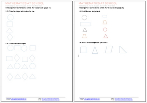 math worksheet : kindergarten worksheets and printables free pdf worksheets  : Kindergarten Online Worksheets