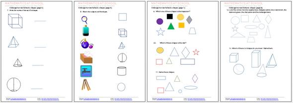 math worksheet : kindergarten worksheets and printables free pdf worksheets  : Free Shape Worksheets For Kindergarten