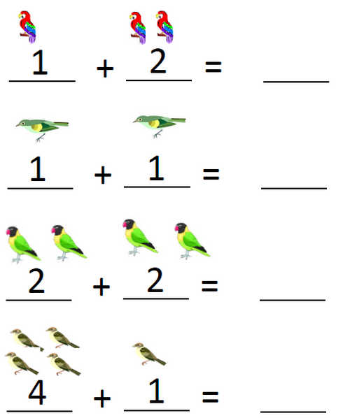 Birds: Pre K Addition Worksheets At Alzheimers-prions.com