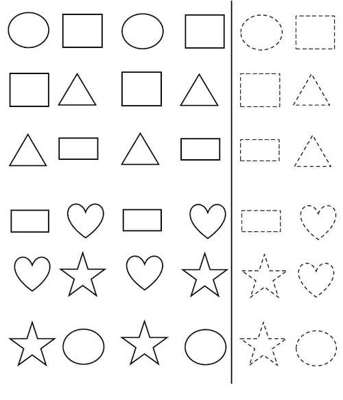 pre k worksheets patterns. Black Bedroom Furniture Sets. Home Design Ideas