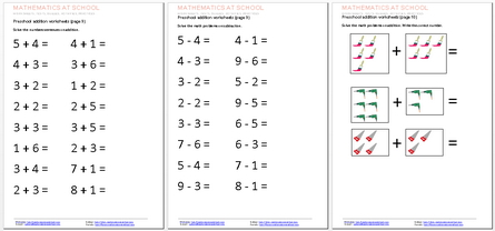 math worksheet : maths at school workscheets tests activities printables in  : Pre Kinder Math Worksheets