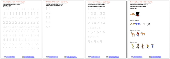 math worksheet : preschool worksheets and printables numbers counting shapes : Electronic Math Worksheets